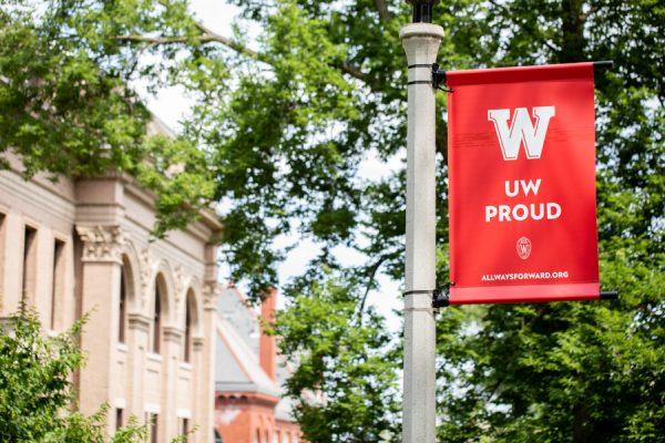 Banner saying UW proud