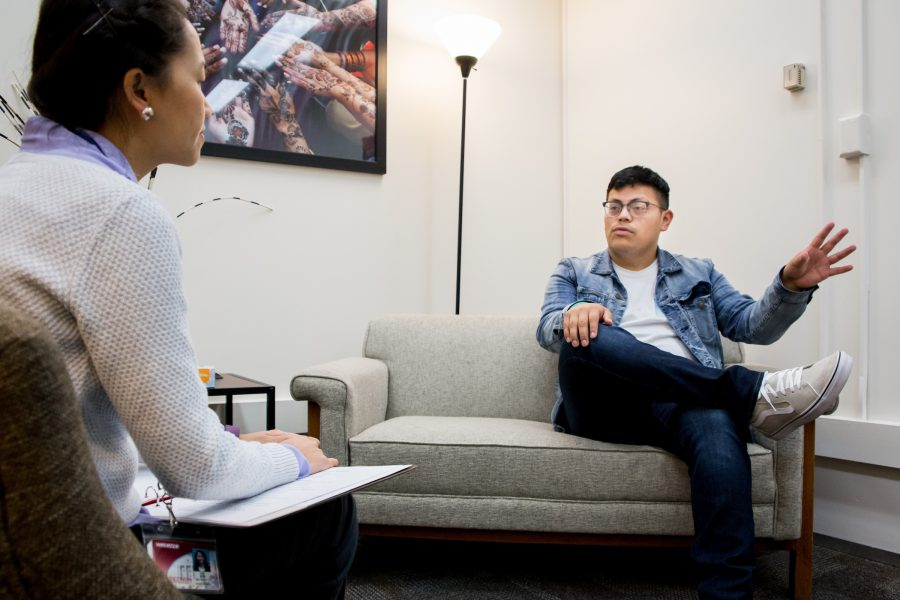 Counseling session between two people