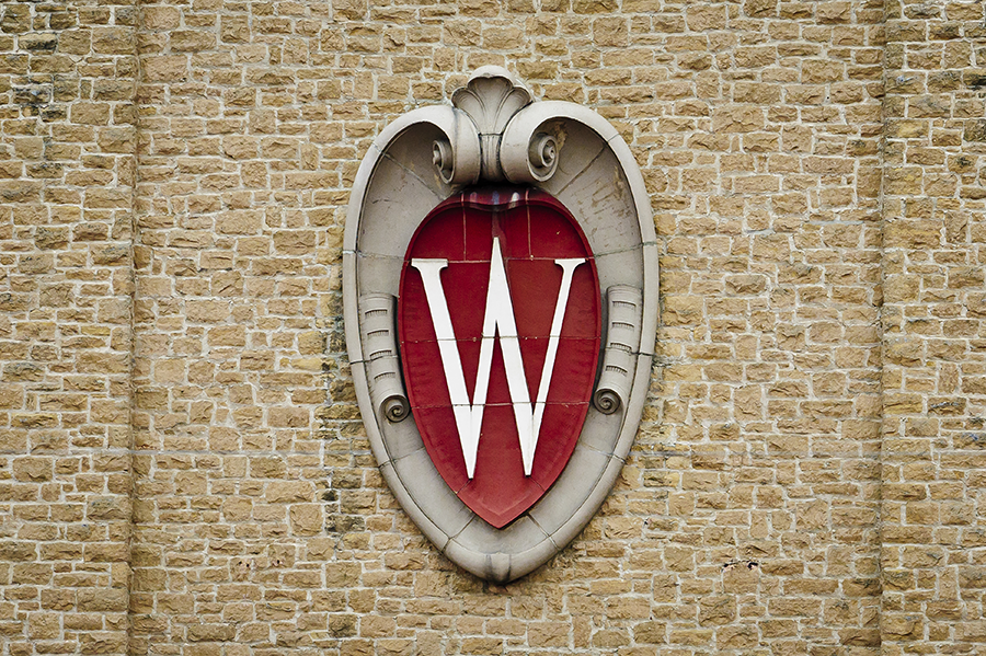 W Crest on Camp Randall building